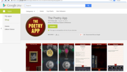 The Poetry App Google Play page