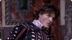Tom performing Romeo and Juliet on stage at the Globe