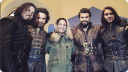 Musketeers cast with Natalie Edwards