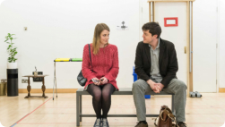 Reasons to be Happy rehearsals from Hampstead Theatre website
