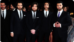 The Musketeers cast at the TV Awards